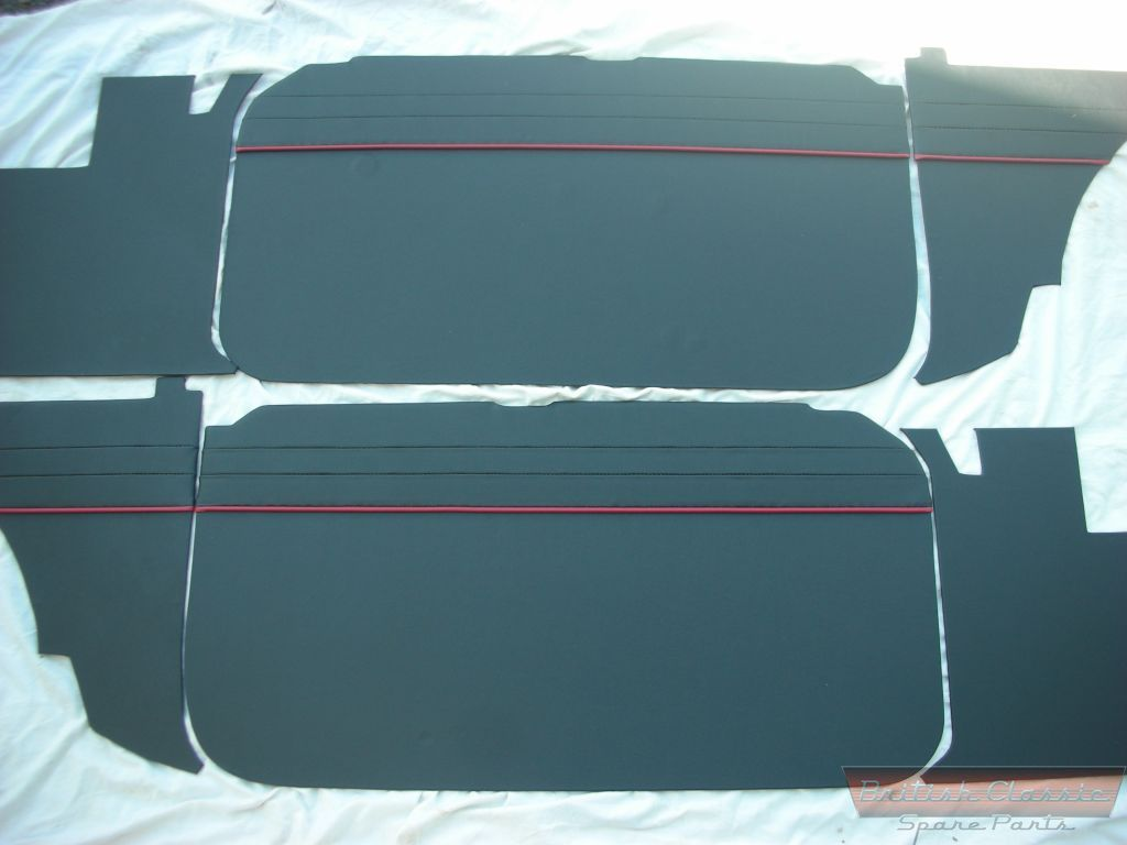 Interior trim kit 6 pcs mgb 65 67 will also fit gt for Interior trim materials