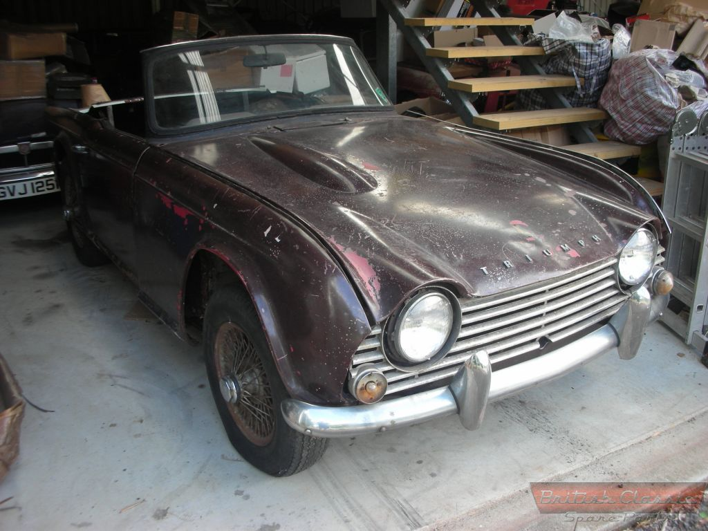 triumph tr4a restoration project sold british classic spare parts. Black Bedroom Furniture Sets. Home Design Ideas